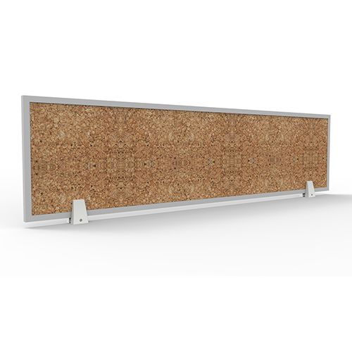 Officeintrend ฉากกั้น Wooden Rectangular Screen with 1 Side Cork Board 2000L x 350H mm
