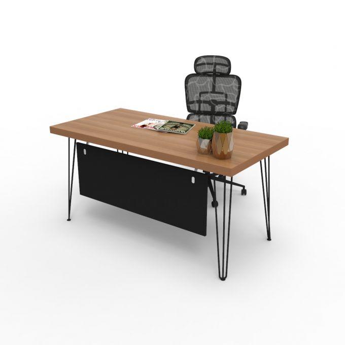 โต๊ะทำงาน โต๊ะคอมพิวเตอร์ รุ่น Sync-B พร้อมกันโป๊ไม้